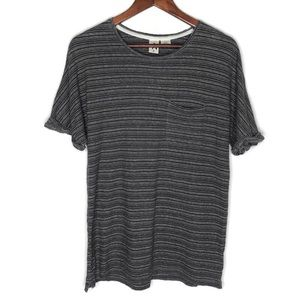 Urban Outfitters Three Feathers Striped Tee Sz Sm